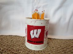 WISCONSIN BADGERS Recycled Can Holder by KreationsGalore on Etsy