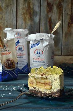 sernik zbananami iczekoladą Camembert Cheese, Ale, Cheesecake, Food And Drink, Baking, Cook, Recipes, Kuchen, Ale Beer