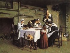 Pilgrims' Grace by Henry Mosler