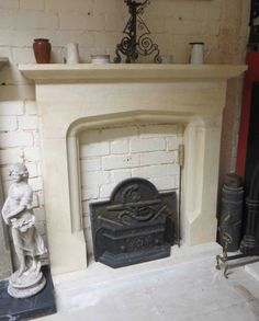 Cast Iron Stove, Fire Surround, Hearth, Fireplaces, Contemporary Style, Antiques, Classic, Design, Home Decor