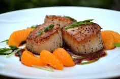 scallops in mandarin - masterchef kaime seared with salad episode 20
