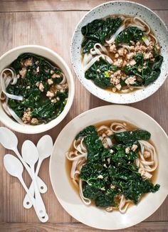 Yummy Supper: SPICY PORK SOUP WITH KALE and RICE NOODLES {+ BOOK PRE-ORDERS!}