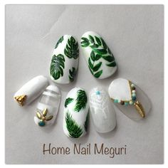 Love this palm tree nail design idea