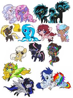 mlp other ponies Mlp Adoption, Malu, Little Poney, She Wolf, Mlp Pony, Kawaii, My Little Pony Friendship, Mythical Creatures, Chibi