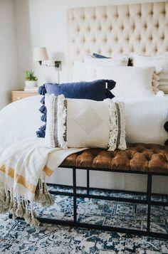 10 Beautiful Furniture Models Black Short Coated Dog On White And Blue Floral Couch decor Design Living Room, Master Bedroom Design, Home Bedroom, Bedroom Decor, Serene Bedroom, Bedroom Ideas, Clean Bedroom, Bedroom Makeovers, Bedroom Styles