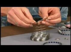 1806-4 Katie Hacker uses Tila beads to create memory wire bracelets on Beads, Baubles & Jewels - YouTube