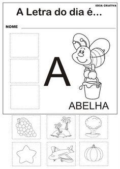 Atividades com as Vogais - A, E , I, O e U   Ideia Criativa - Gi Barbosa Educação Infantil