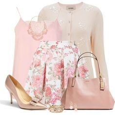 Breathtaking Floral Outfit Ideas for All Seasons 2018 - The Best Floral Outfits Mode Outfits, Girly Outfits, Classy Outfits, Stylish Outfits, Fashion Outfits, Womens Fashion, Floral Outfits, Skirt Outfits, Fashion Ideas