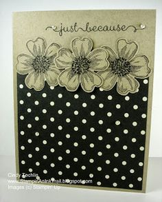 Stampin' an Ink Trail: Just Crumb Cake & Black Flower Shop