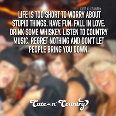 Cute N Country, Country Life, Country Music, Country Shirts, Country Outfits, Don't Let, Let It Be, Life Is Short, Note To Self