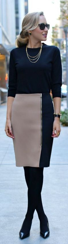 7 feminine fall office outfits with skirts - Page 2 of 7 - women-outfits.com