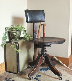 Antique Industrial Adjustable  Swivel Office by robinseggbleunest,   $85 shipping +$298.00