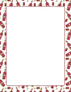 A page border with wine bottles and glasses. Free downloads at http://pageborders.org/download/wine-border/