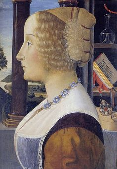 Davide Ghirlandaio - Portrait of a young woman.