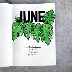 50+ incredible June monthly spreads for your Bullet Journal? | My Inner Creative Bullet Journal Cover Ideas, Bullet Journal Key, Bullet Journal Themes, Journal Covers, Bullet Journal Inspiration, Journal Ideas, June Birth Flower, Birth Flowers, Juno Goddess