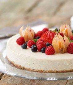 Sukkerfri ostekake med vanilje og lime - LINDASTUHAUG Snacks, Cheesecake, Desserts, Lime, Tailgate Desserts, Appetizers, Deserts, Lima, Cheese Pies