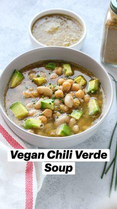Vegan Bean Soup, Vegan Stew, Vegan Chili, Vegetarian Soup, Vegetarian Recipes, Healthy Recipes, Healthy Soups, Vegan Soups, Vegan Food