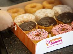 In order to focus their attention on menu innovation, Dunkin' Donuts will cut its doughnut menu in certain locations from 30 to Dunkin Donuts Recipe, Donut Recipes, Donut Store, Sleepover Snacks, Restaurant Delivery, Mac, Kinds Of Desserts, Coffee Dessert, Food Photography