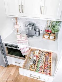10 DIY Coffee Bar Cabinet Ideas for the Perfect Cup of Joe Office Coffee Station, Coffee Station Kitchen, Coffee Bars In Kitchen, Coffee Bar Home, Home Coffee Stations, Coffee Corner, Coffee Bar Ideas, Kitchen Cabinets In Bathroom, Diy Kitchen