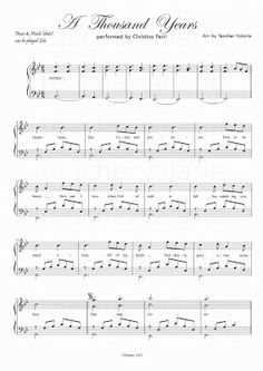 Partitura A thousand years 1