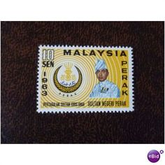 Perak Malaysia 1963 Sultan Idris 10c mint stamp SG162 Listing in the Malaya & Malaysia & S. Setts.,Commonwealth & British Colonial,Stamps Category on eBid United Kingdom