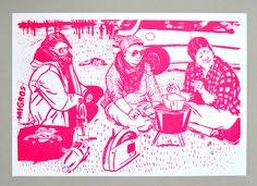Reportage über den Campingplatz in Sarnen. Mit 23 Portraitillustrationen in 9 Schachteln verpackt. 2013 Reportage, Portrait, Illustration, Campsite, Boxes, Packaging, Illustrations, Portrait Illustration, Portraits