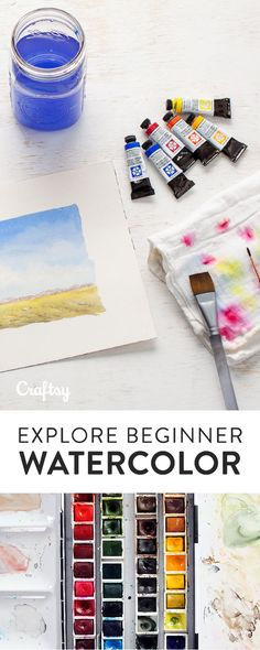 Learn the tips and tricks behind painting beautiful watercolors.
