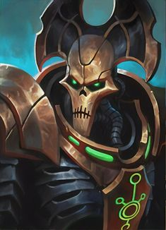 Lychguard? Warhammer Fantasy, Warhammer 40k Necrons, Warhammer Paint, Warhammer 40k Miniatures, Necron Army, Robot Concept Art, Mini Paintings, Fantasy Warrior, Dark Fantasy Art