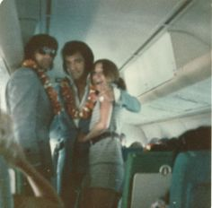 May 19, 1972   | Elvis, Sonny West  and a fan,   on the way back from Hawaii just before the Madison Square Garden concert