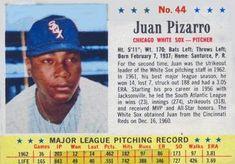 1963 post cereal (baseball) Card# 44 juan pizzarro of the Chicago White Sox Good Condition Trading Card Database, Chicago White Sox, Major League, Cereal, Conditioner, Socks, Baseball Cards, Sock, Stockings