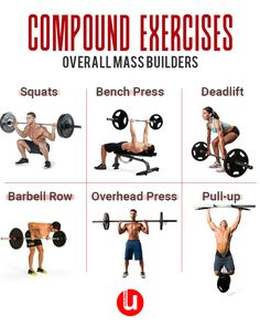 Compound exercises for overall mass builders. #AbsWorkout #exercise #fitness