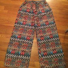 Pants 100% polyester wide leg pant Pants Wide Leg
