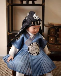 ~ Living a Beautiful Life ~ .Little boy's Hanbok. Korean Traditional Dress, Traditional Dresses, Korean Dress, Korean Outfits, Asian Fashion, Kids Fashion, Modern Hanbok, Asian Babies, Vogue Fashion