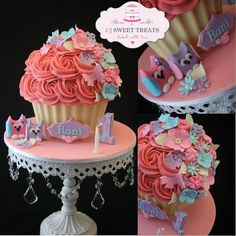 1st Birthday Giant Cupcake