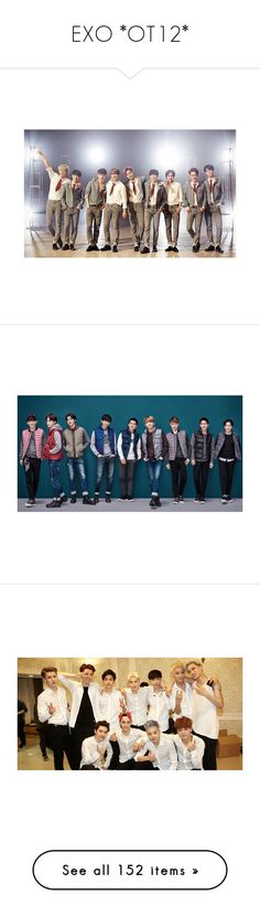 """""""EXO *OT12*"""" by saranghandamiina ❤ liked on Polyvore featuring exo, kpop, pictures, backgrounds, fillers, photo, phrase, quotes, saying and text"""