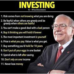 Investing tips from Warren Buffett Financial Quotes, Financial Literacy, Financial Tips, Career Quotes, Business Motivation, Business Quotes, Business Ideas, Business Inspiration, Business Opportunities
