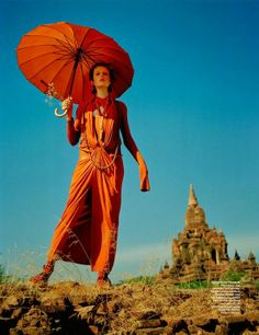 Edie Campbell in Burma by Tim Walker for W May 2014