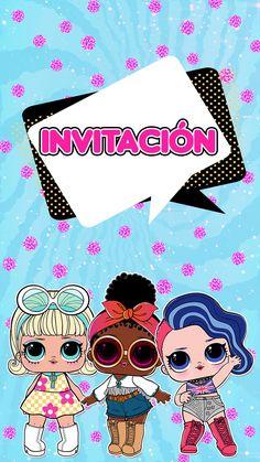 Invitation Flyer, Digital Invitations, Custom Invitations, 7th Birthday Party Ideas, Birthday Party Invitations, Happy Birthday, Lol Doll Cake, Mermaid Invitations, Doll Party