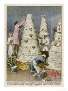 New Cake Illustration Pictures Ideas Cake Illustration, Food Illustrations, Illustration Pictures, English Wedding Cakes, Vintage Posters, Vintage Art, Vintage Cakes, Giant Cake, New Cake