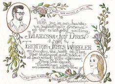 hand drawn wedding invitations - Google Search
