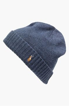 c667885fb50 Polo Ralph Lauren  Classic Lux  Merino Wool Knit Cap available at   Nordstrom Cool