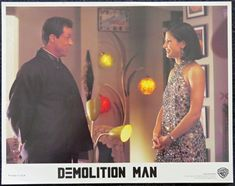 A police officer is brought out of suspended animation in prison to pursue an old ultra-violent nemesis who is loose in a non-violent future society. Stars Stallone and Snipes. Suspended Animation, Demolition Man, Sale Poster, Film Posters, The Originals, Formal Dresses, Shop, Cards, Collection
