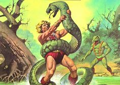80s Masters of the Universe. He-Man and Kobra Khan