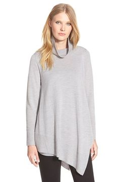 Eileen+Fisher+Poncho+StyleMerino+Jersey+Sweater+(Regular+&+Petite)+available+at+#Nordstrom