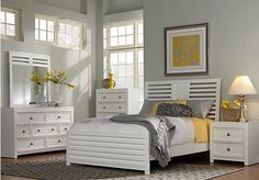 Mayville King White 5Pc Panel Bedroom