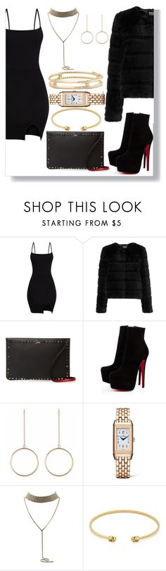 """""""A Night Out"""" by faaliyah49 on Polyvore featuring Sunshine Soul, Christian Louboutin, Jaeger-LeCoultre, Gucci and David Yurman"""