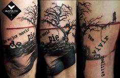 Tree Tattoo (Trash Style) - http://www.buntblick-tattoo.de/