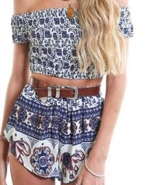 Strapless Sexy Floral Off Shoulder Sleeveless Two Pieces Set