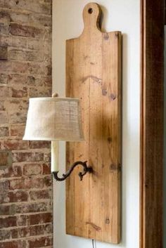 Cutting Board Wall Sconce -
