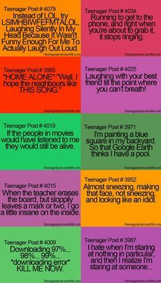 I can relate to most of these. Especially the one about staring at nothing